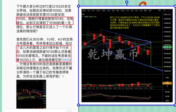 btc-乾坤赢币:BTC如期回到10100底部支撑走反弹,晚间又该如何?
