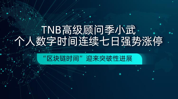 """区块链-TNB高级顾问季小武个人数字时间连续七日涨停,""""区块链时间""""再迎风口"""